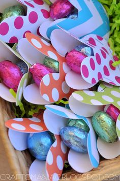 Paper Easter bunny favors