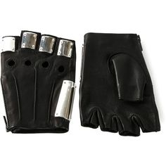 Majesty Black 'Armor' gloves