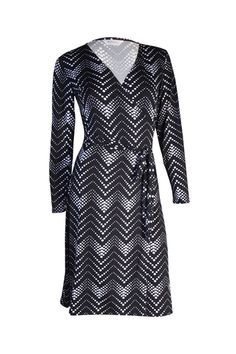 The Iconic Wrapped Dress - Monotone Zig Zaggy - Customise Wrap Dress by Kristine's Collection Couturiere