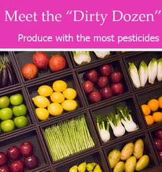 "Meet the ""Dirty Dozen"": A list of the dirtiest (and also the cleanest) produce, so you know exactly what's going into your shopping carts and on your kitchen table."
