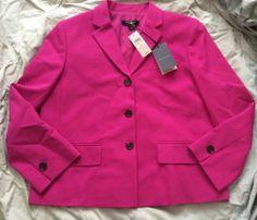 Ann Taylor Brand New with Tags Fuschia Blazer Size 6 | eBay #anntaylor #nwt #anntaylorblazer #fuschiablazer #size6 #womenswear #apparel #designer #fashion #consignment #pinkblazer