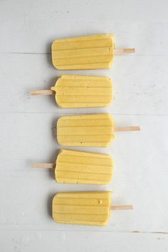 Mango and coconut creamsicles