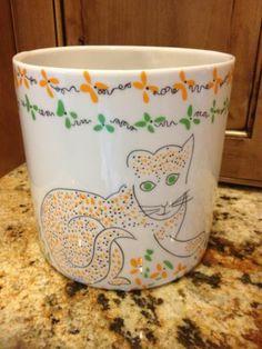 Gloria Vanderbilt 70s Cats Meow Sigma Taste Setters Planter ICE Bucket Canister | eBay