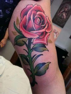 Done by Chris Price at Adrenaline Toronto. #colourtattoos #toronto #torontotattoos #tattoos #rose #rosetattoo #adrenalinetoronto