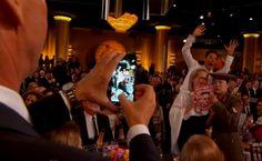 """@EW: Cumberbatch photo bomb! #EWGlobes #GoldenGlobes "" #love"