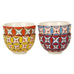 Discover the Pols Potten Colour Hippy Bowls - Set of 4 at Amara
