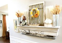 I think I have pinned this before - I need to make a shelf like this for a fake mantle