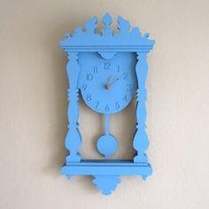 seequin presents:    Custom Color Pendulum Wall Clock - Laser Cut Cardboard