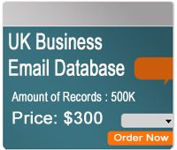 Latest Database have uk email list with , ceo, marketing manager , owner, partner  data. UK email list have recent update may, 2014. High quality email lists with all the data that your required.    UK Business Email Database Amount of Records: 500,000 http://www.latestdatabase.com/uk-email-database/