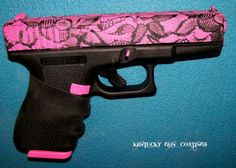 Pink Laced Glock 19, I don't think hubby would let me get a glock but love the pink lace!