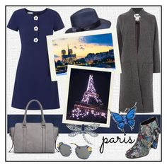 """""""SEE YOU IN PARIS!!!"""" by kskafida ❤ liked on Polyvore featuring Versace, Sam Edelman, Hobbs, Betmar, Tommy Hilfiger, Miu Miu and Bling Jewelry"""