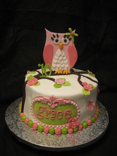 owl birthday cakes | Retro Owl Birthday — Owl Cake Contest 2012