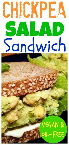 Chickpea Salad with avocado is by far my favorite vegan sandwich of all time. Something about the flavors of lime, avocado, and cilantro just thrill my taste buds. Checkout our cooking demo video to see how simple this recipe is to make. #chickpeasalad#vegan