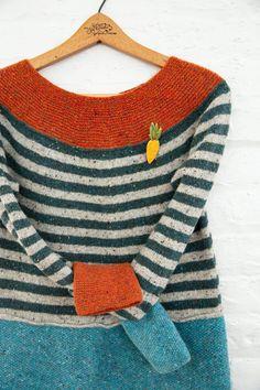 "Tweed Dress ""Carrot"" / Knitted Dress / Handmade Dress / Size: XS, S – knitting sweaters handmade Tweed Dress, Knit Dress, Yarn Sizes, Knitted Coat, Sweater Making, Handmade Dresses, Pulls, Retro Fashion, Hand Knitting"
