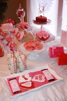 Valentines party spread