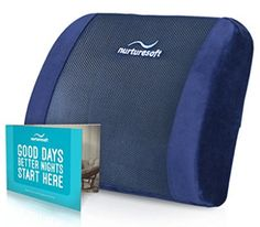 NurtureSoft Orthopedic Lumbar Support Back Cushion Pillow for Office Chair and Car Seat Back Support Pillow, Support Pillows, Back Pillow, Cushion Pillow, Office Chair Cushion, Patio Chair Cushions, Mesh Office Chair, Cheap Dining Room Chairs, Cool Chairs