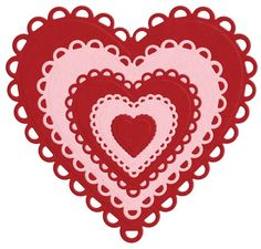 Nesting Lace Hearts die by Lifestyle Crafts. Compatible with leading die-cutting machines. $24.99