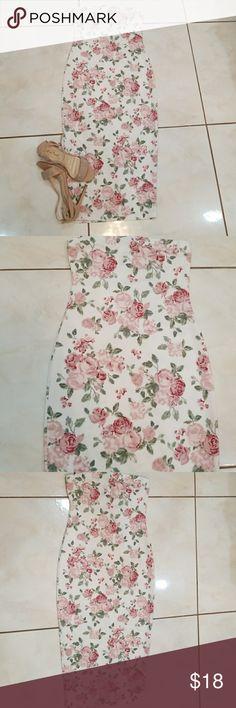 Dress Tube pencil floral dress wearever Dresses Strapless