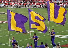 LSU. Will go to see Grandson graduate this May. Proud of him.
