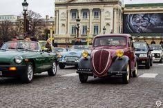 #Simca #6 à la Traversée de #Paris hivernale 2016. Reportage complet : http://newsdanciennes.com/2016/01/10/grand-format-traversee-de-paris-hivernale-2016/ #Vintage #VintageCar #Voiture #Ancienne