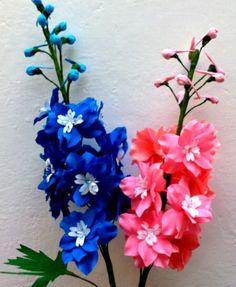 Paper Flower- Delphinium / Larkspur