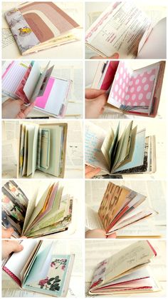 Book binding: Handbound *Little Books* - reclaimed pages pre-loaded with inspiration