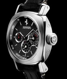Un QP acier Ferrari by Officine Panerai pour les 60 ans de la marque au cheval… Dream Watches, Luxury Watches, Cool Watches, Watches For Men, Ferrari Watch, Panerai Watches, Beautiful Watches, Chronograph, Men's Watches