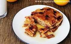 Strawberry-Banana Pancakes - Gluten-Free Vegan Breakfast