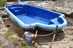 Complete your backyard with the fiberglass swimming pool that is well-known as simplest installation. Above Ground Fiberglass Pools, Fiberglass Swimming Pools, Swimming Pools Backyard, Swimming Pool Designs, Pool Prices, Pool Cost, Swimming Pool Construction, Gunite Pool, Pool Installation