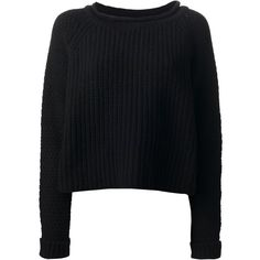 JO NO FUI chunky knit sweater (10.090 ARS) ❤ liked on Polyvore featuring tops, sweaters, jumpers, shirts, long sleeve shirts, knit sweater, long sleeve tops, knit jumper and round neck sweater