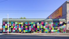 San Francisco street art mural by Pastime. Love this colour palette!