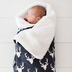 This navy deer faux fur blanket is soft and sweet! This baby blanket is from our Buck Forest in Twilight Baby Bedding Collection!