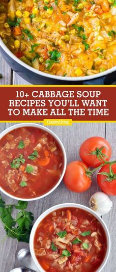 These light and healthy cabbage soup recipes make the perfect starter or main course for your next family dinner. Here you'll find easy and simple recipes featuring tasty ingredients like sausage, quinoa, hamburger, corned beef, veggies, and more. #soup #souprecipes #dinner #dinnerrecipes #cabbagesoup #soup #food