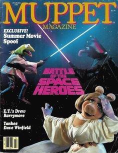Star Wars Reimagined as a Muppets Comic: A 1983 Mashup - Two of pop culture's greatest cults, together at last. Star Wars Film, Star Trek, Space Hero, Fraggle Rock, The Muppet Show, Star Wars Love, Miss Piggy, Kermit The Frog, Anakin Skywalker