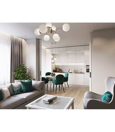 beautiful and affordable dining room decoration ideas 28 Apartment Interior, Apartment Design, Home Living Room, Interior Design Living Room, Living Room Decor, Open Plan Kitchen Living Room, Home Decor Kitchen, Home Room Design, Dining Room Design