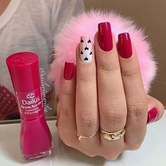 Image in unhas collection by Celly on We Heart It Glam Nails, Glitter Nails, Beauty Nails, Valentine Nail Art, Nail Swag, Nail Pro, Nail Tutorials, Nails On Fleek, Manicure And Pedicure