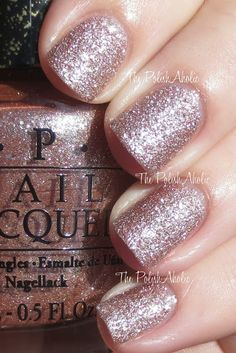"As Silent Stars Go By This is the first time I've tried using a ""sand"" colour by OPI. The sparkle is spectacular, but the finish feels rough (of course). Time will tell if I am a fan of this line."