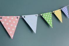 Pastel Bunting Garland - Baby - Easter - Spring - Photography Prop on Etsy, $12.00