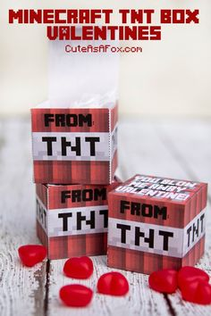 Minecraft TNT Box Valentines - Free Printable
