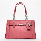 Coach's Chelsea Leather Jayden Carryall in Rose/Silver is the Spring-iest purse I've ever seen.  Perfect for late March, April and May!