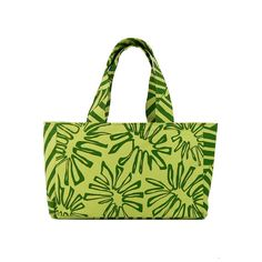 Skat Bag-Hand silkscreened fabric with Palm Leaves print. Purse, bag, tote, travel, messenger, school, diaper