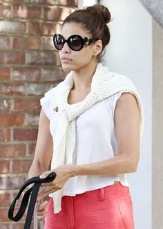 3928964441d Eva Mendes in Prada Baroque Sunglasses.  Like  The Strand Arcade on Facebook  for