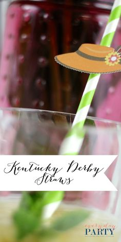 Simple Kentucky Derby Straws - Everyday Party Magazine