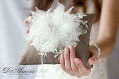 Lace and burlap Rustic Chic Wedding ring bearer от DiAmoreDS