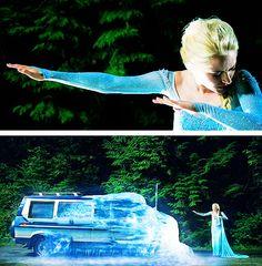 Elsa vs a truck... #OnceUponATime Season 4