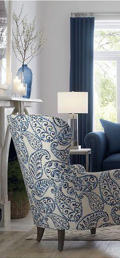 Durham Sofa | Blue Living Room