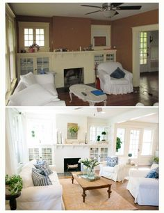 7 Happy Cool Ideas: Living Room Remodel On A Budget Renovation living room remodel ideas basement stairs.Living Room Remodel Ideas Diy living room remodel before and after half baths.Living Room Remodel Before And After Diy. Home Living Room, Home, Living Room Remodel, Home Remodeling, Fixer Upper Living Room, Room Remodeling, Home Renovation, Bungalow Homes, Home And Living