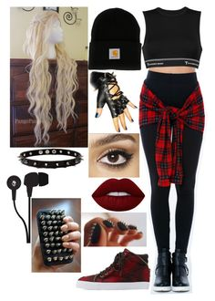A fashion look from March 2017 featuring wig costume, adjustable sports bra and soda shoes. Girls Fashion Clothes, Teen Fashion Outfits, Edgy Outfits, Swag Outfits, Simple Outfits, Really Cute Outfits, Cute Comfy Outfits, Pretty Outfits, Bad Girl Outfits