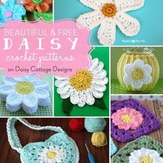 This roundup of 17 free daisy crochet patterns is sure to put a smile on your face. Any of these crochet flower patterns will brighten up your next project.
