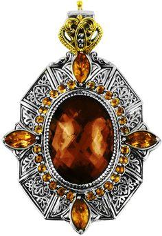 Konstantino Sterling Silver & 18 Karat Gold Byzantine Pendant